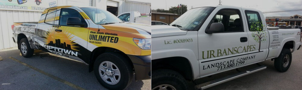 commercial truck wraps Houston
