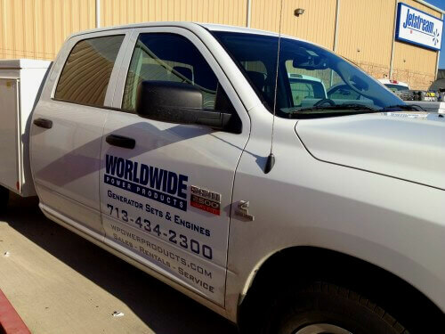 commercial vehicle stickers Houston