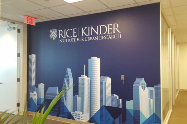 custom vinyl wall decal for business