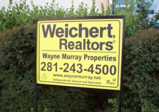 Houston realtor yard signs