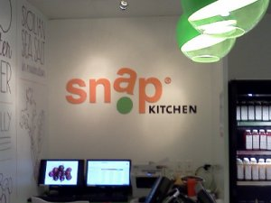 office lobby signs - Snap Kitchen