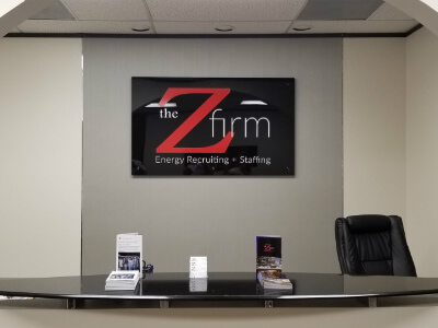 office reception area signs - The Z Firm