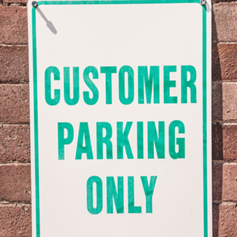 customer parking only signage tips