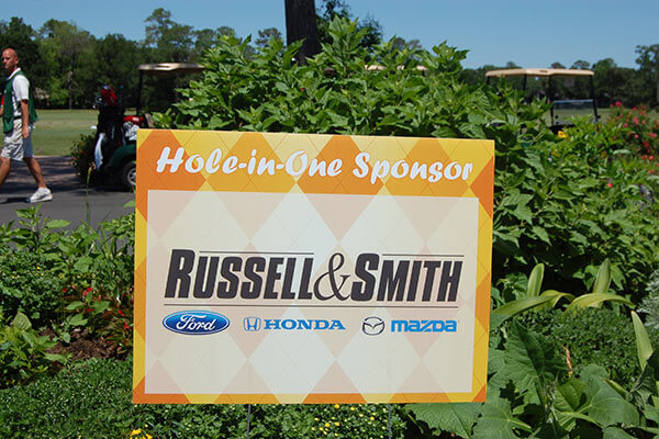 golf sponsor signs hole-in-one