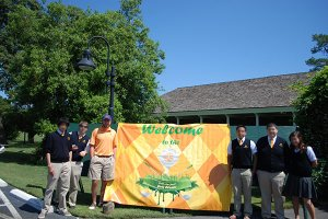 golf tournament welcome banner