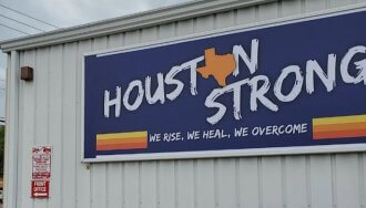 Houston Strong sign from Houston Sign Company