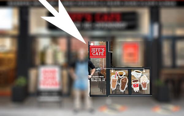 custom storefront window decals - Houston