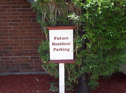 directional apartment complex signs