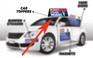 election signs Houston - car toppers
