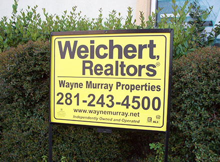 Houston yard apartment marketing signs