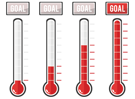 thermometer fundraiser signs - Houston