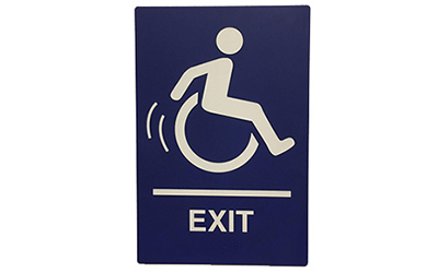 ADA exit signs Houston, TX