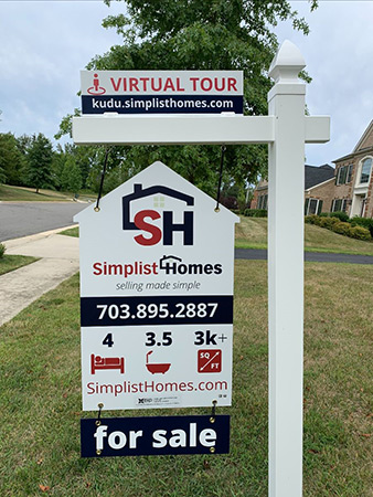 real estate sign material installation