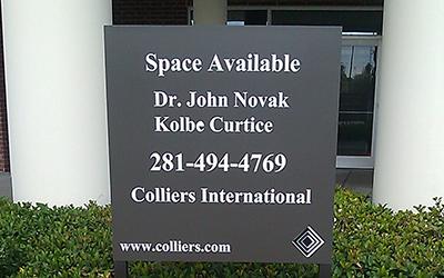 aluminum sign maker - Houston