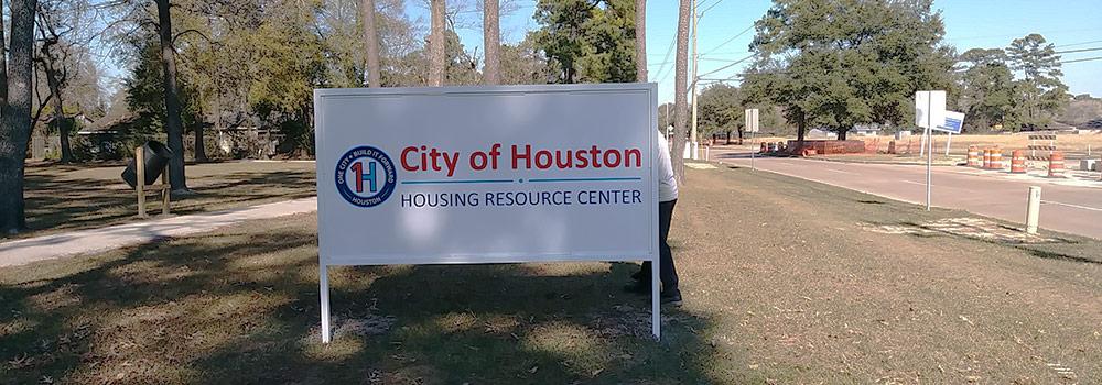 outdoor aluminum signs - Houston