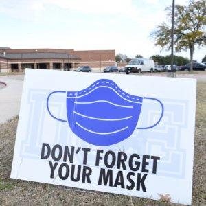 mask school sign