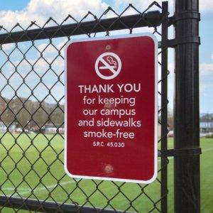 smoke free school sign