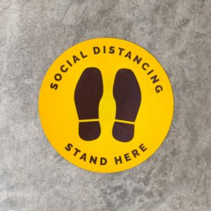 social distance floor decal